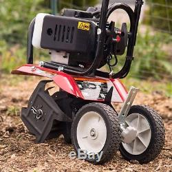 Gas Garden Cultivator Soil Tilling Weeding Aerating Lawn CARB Compliant Gasoline