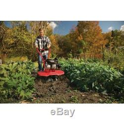 Gas Garden Tiller Rototiller Cultivator Raised Bed 140CC Front Tine Tool 24in