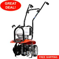 Gas Garden Tiller Rototiller Cultivator Yard Raised Bed Front Tine Tool 43cc