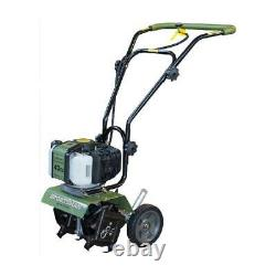 Gas Garden Tiller Rototiller Cultivator Yard Raised Bed Front Tine Tool 43cc