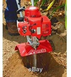 Gas Mini Tiller Soil Sod Weeding Digging Garden Cultivator Compact Lightweight