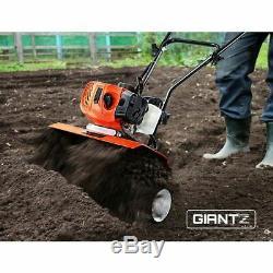 Giantz 82CC Garden Cultivator Tiller Petrol Rotary Hoe 36 Tines Rototiller