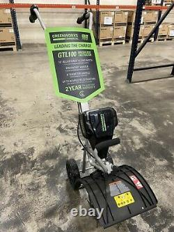 GreenWorks Commercial GTL100 82V 10'' Brushless Cultivator Tiller Tool Only
