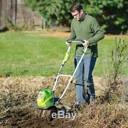 GreenWorks G-MAX 40V 10-inch Cordless Cultivator with Multiple Tools, 27062A New