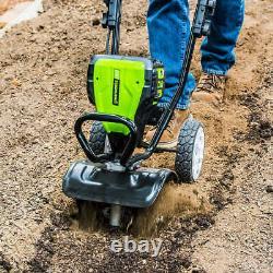 Greenworks 80V 10 Cultivator with 2 AH Battery & Rapid Charger, Tiller