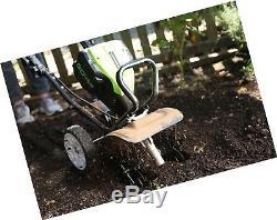 Greenworks TL80L00 10-Inch 80V Cordless Tiller Cultivator, Batt. 2DAY DELIVERY
