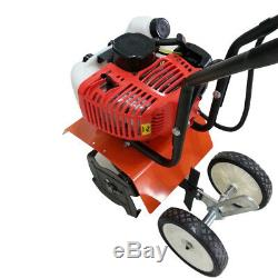 Home Garden Gas Tiller Powered 2 Stroke 52cc Cultivator Walk Behind Grass soil