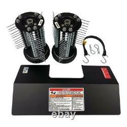 Honda Dethatcher Kit Tiller Garden Cultivator Attachment 7 Diamond-tread Wheels