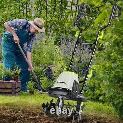 LawnMaster Electric Garden Tiller Rototiller Cultivator Yard Front Tine Tool
