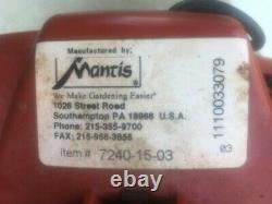 Mantis Mini Tiller Roto Tiller/Cultivator with Kickstand New Fuel Lines/Primer