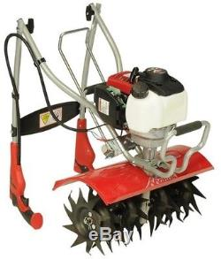 Mantis Tiller Cultivator 35cc 4-Cycle Gas Kickstand Front-Tines Foldable Handle