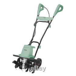 Martha Stewart Electric Tiller and Cultivator with 6 Steel Tines (Mint)