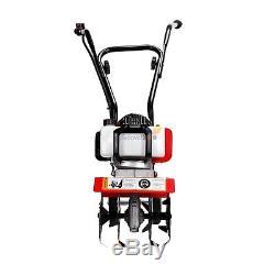 Mini Garden Tiller Cultivator Gas Powered 2 stroke Tilling Soil Tool 43cc Engine