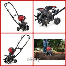 Mini Gas Cultivator Tiller 2cycle 25cc Lightweight Compact Durable Garden Tool