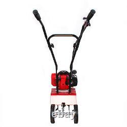 Mini Tiller Cultivator 52CC 2Stroke Petrol Power Tiller Rototiller Lawn Machine