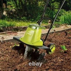 Mini Tiller Cultivator Garden Electric Engine Soil Rototiller Tool Green Tine