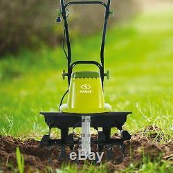 Mini Tiller Cultivator Garden Electric Tilling Tool Sun Joe 16-Inch 13.5 Amp