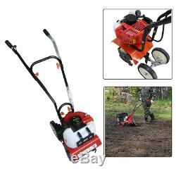 Mini Tiller Cultivator Garden Yard Tilling Soil Gas Powered 2stroke 52CC 1.45kw