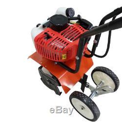 Mini Tiller Cultivator Garden Yard Tilling Soil Petrol Gas Powered 2-Stroke, 52CC