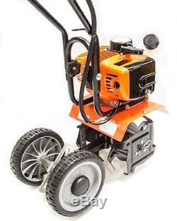 Mini Tiller Cultivator, Gas Powered 2 stroke, 2 hp, 42CC SHIPS FREE