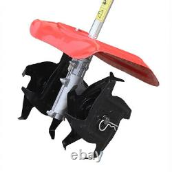 NEW 42.7CC 2-Stroke Hand-Pull Recoil Mini Tiller Cultivator Garden Yard Gasoline