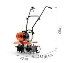 New 65cc Cultivator Tiller Rotary Garden Hoe Adjustable Tilling Garden Quality