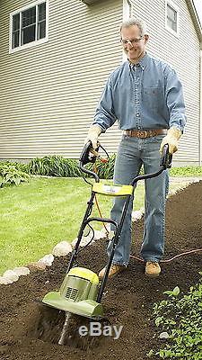 New Electric Garden Tiller Ground Cultivator Lightweight Sun Joe