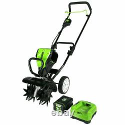 New Greenworks 80 Volt 10 Tiller Cultivator model 2800302