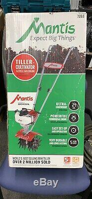 New Mantis Tiller Cultivator 4 Cycle Model 7268 With Honda Motor