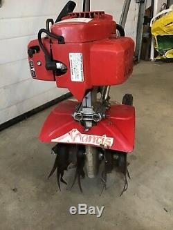 Nice Mantis 2 Cycle Garden Tiller Mini Rototiller Cultivator 7222 SV-4/B RUNS