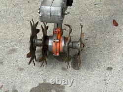 Nice Stihl MM55 Yard Boss Mini Tiller Cultivator with 2- Stroke Engine Runs
