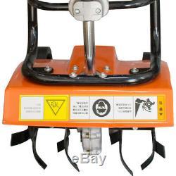 OHV 4-stroke shaft Mini Comercial Gas Tiller Cultivator Tilling Soil Garden Yard