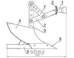 Plow Truck Mount Kit for Motors Cultivators Tillers