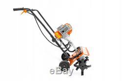 Powermat Heavy Duty Petrol Rotovator Tiller Cultivator Rotavator 5.2HP 3800W