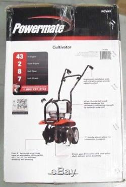 Powermate 10 in. 43cc Gas 2-Cycle Portable Adjustable Foldable Handle Cultivator