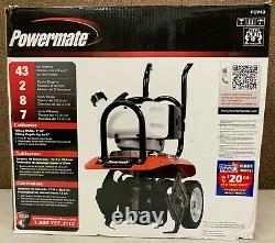 Powermate PCV43 Cultivator 10 43cc Gas 2-Cycle Adjustable Tilling Fold Handle