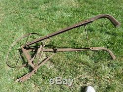 Primitive Vintage Antique Cultivator High Wheel Farm/Garden Plow Rustic