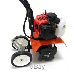 Pro Mini Tiller Cultivator 52cc Gas Engine Powerful Machine 3080-6500r/min