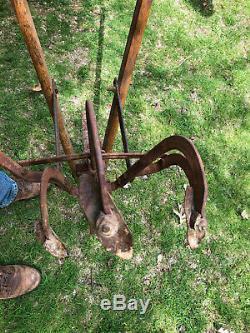 RARE Antique Handiman Push Plow Cultivator Garden Farm Awesome Condition