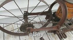 RARE Hudson Garden Farm Cultivator Corn Seeder complete with extras Old paint
