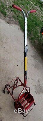 ROHO STYLE WHEELED GARDEN CULTIVATOR TOOL-WEEDER-HOE-FLOWER GARDEN. Ready