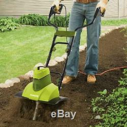 Rototiller Electric Garden Tiller 9-Amp 18 Soil Cultivator Gardening Equipment