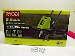 Ryobi Portable Cultivator 11 tilling Width 8.5 Amp Cord lock Foldable Electric
