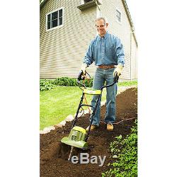 Small Garden Rototiller Electric Soil Tiller 14 Wide Cultivator 6.5 AMP Aerator