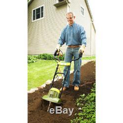 Small Garden Rototiller Electric Soil Tiller 14 Wide Cultivator Aerator Deep Se