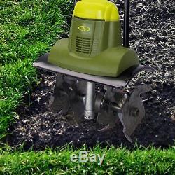 Small Garden Rototiller Electric Soil Tiller 14x7 Inch Home Cultivator Aerator