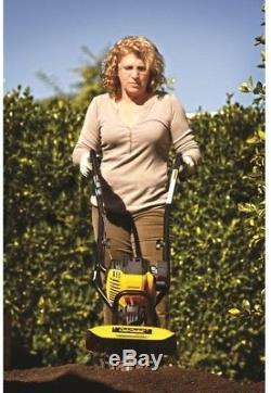 Soil Wheeled Cultivator Deep Dig Ground Plower Lightweight Garden Plant Beds