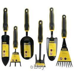 Stanley Gardening Combo Set 6-Piece Cultivator Culti-hoe Fan Rake Tool Kit New