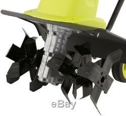 Sun Joe Corded Electric Tiller/Cultivator Rear Wheels Power Tool 13.5-Amp 16 in