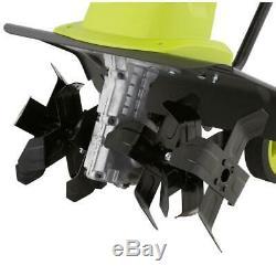 Sun Joe Electric Tiller Cultivator with 5.5 in. Rear Wheels 12-Amp 16 in